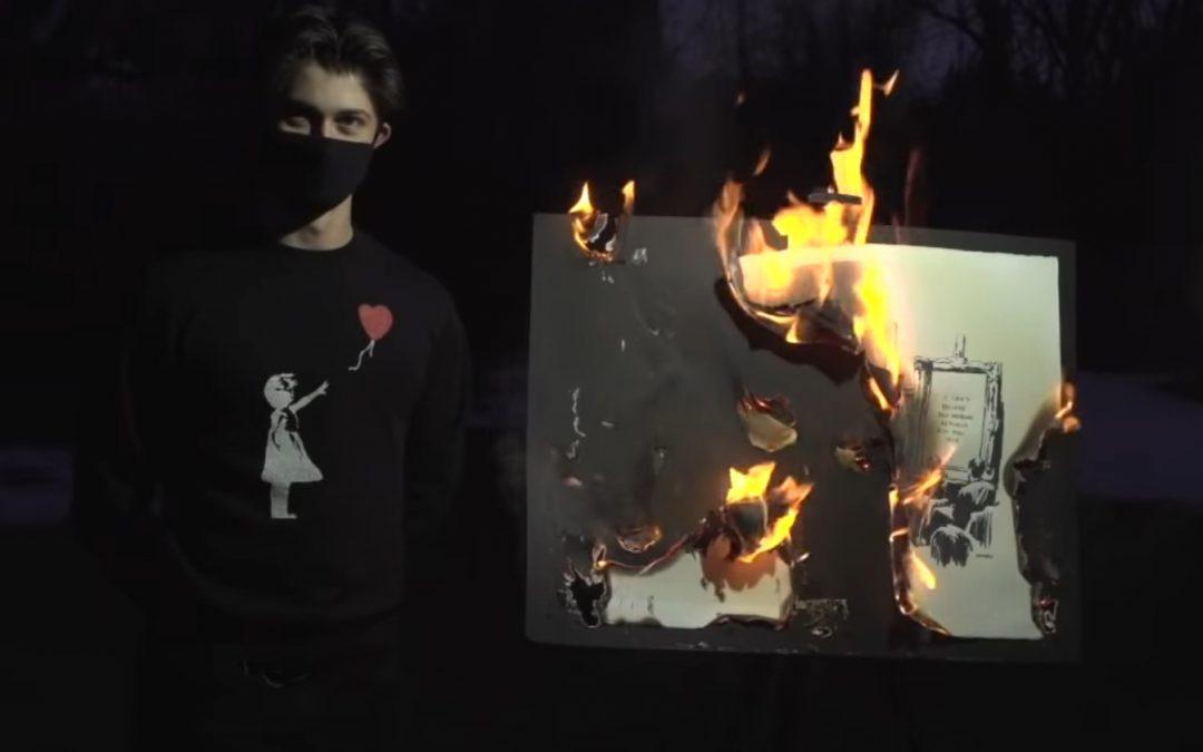 Van fysieke kunst naar digitale NFT's: hoe kunstenaars Banksy-kunstwerk verbranden om deze digitaal te verkopen