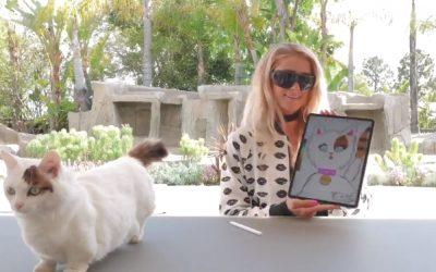 Paris Hilton verkoopt NFT-kunstwerk van haar poes voor $17.000. That's hot!