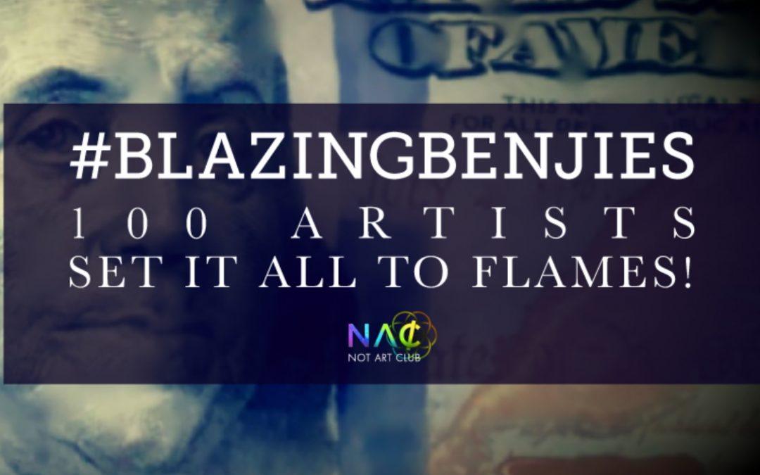 100 NFT Artists set money to flames