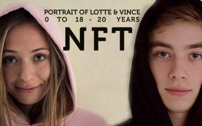 """Van baby tot volwassene: bekende videomontages """"Portrait of Vince & Lotte, 0 to 18-20 years"""" worden als NFT geveild door Frans Hofmeester"""